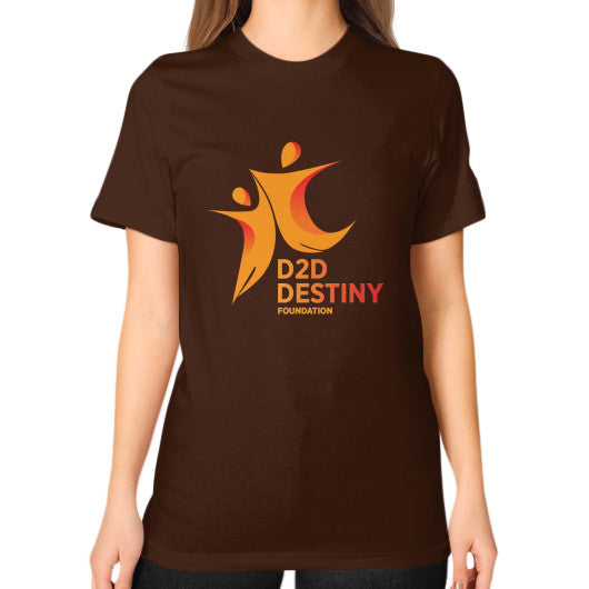 Unisex T-Shirt (on woman) Brown - d2ddestiny