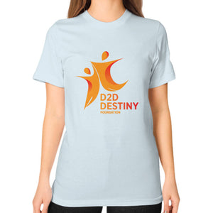 Unisex T-Shirt (on woman) Light blue - d2ddestiny