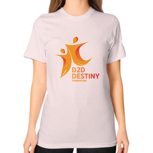 Unisex T-Shirt (on woman) Light pink - d2ddestiny