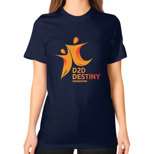 Unisex T-Shirt (on woman) Navy - d2ddestiny