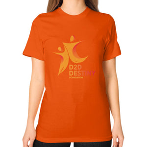 Unisex T-Shirt (on woman) Orange - d2ddestiny