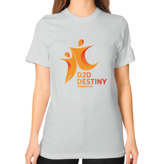 Unisex T-Shirt (on woman) Silver - d2ddestiny