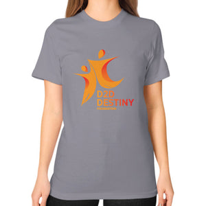 Unisex T-Shirt (on woman) Slate - d2ddestiny