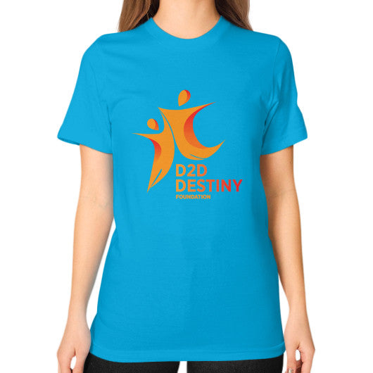 Unisex T-Shirt (on woman) Teal - d2ddestiny