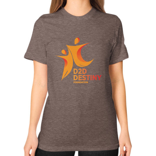 Unisex T-Shirt (on woman) Tri-Blend Coffee - d2ddestiny