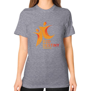 Unisex T-Shirt (on woman) Tri-Blend Grey - d2ddestiny