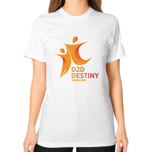 Unisex T-Shirt (on woman) White - d2ddestiny