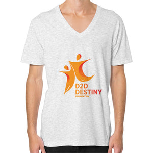 V-Neck (on man) Ash grey - d2ddestiny
