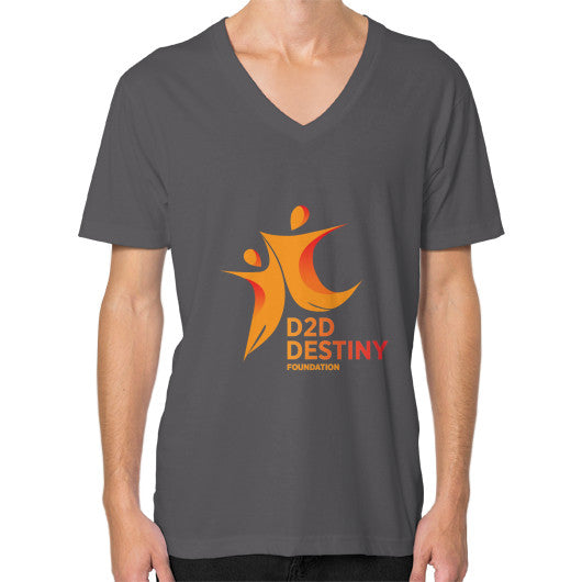 V-Neck (on man) Asphalt - d2ddestiny