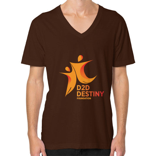 V-Neck (on man) Brown - d2ddestiny
