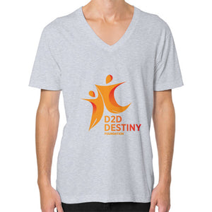 V-Neck (on man) Heather grey - d2ddestiny