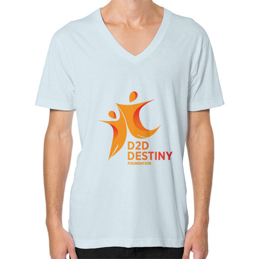 V-Neck (on man) Light blue - d2ddestiny