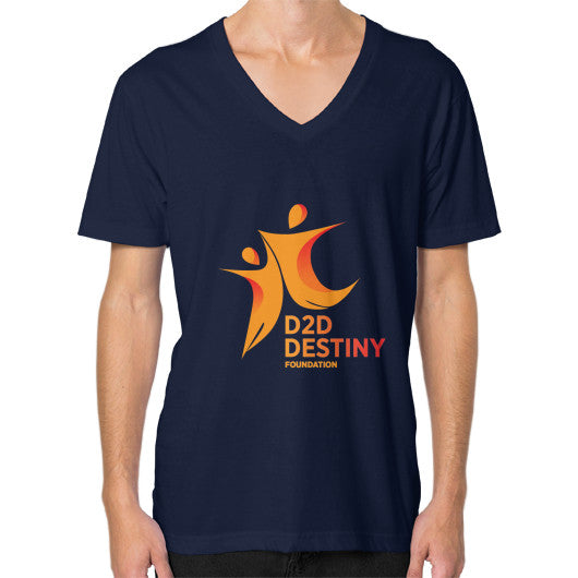 V-Neck (on man) Navy - d2ddestiny