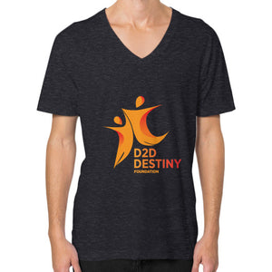 V-Neck (on man) Tri-Blend Black - d2ddestiny