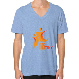 V-Neck (on man) Tri-Blend Blue - d2ddestiny