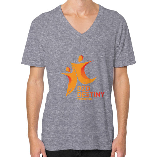 V-Neck (on man) Tri-Blend Grey - d2ddestiny