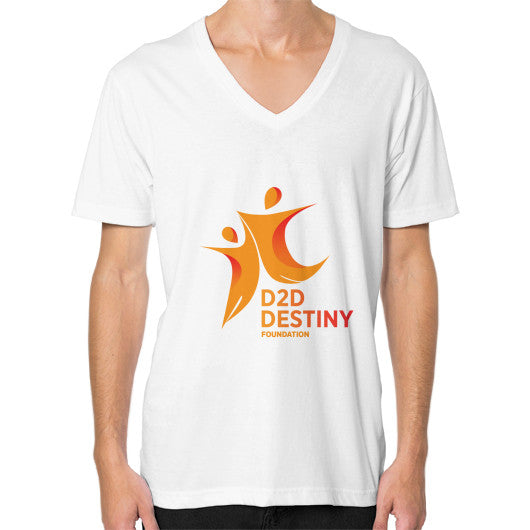 V-Neck (on man) White - d2ddestiny
