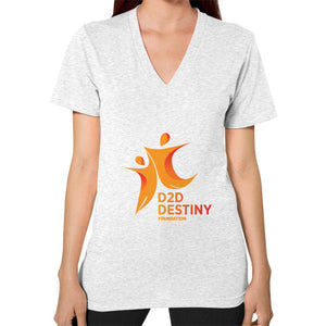 V-Neck (on woman) Ash grey - d2ddestiny