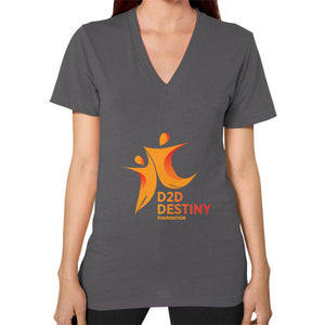 V-Neck (on woman) Asphalt - d2ddestiny
