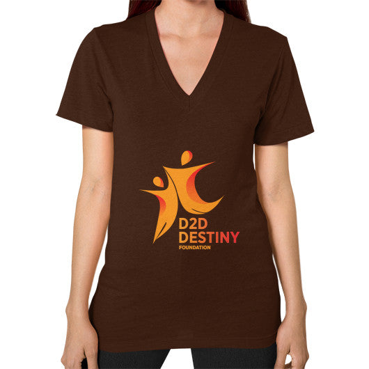 V-Neck (on woman) Brown - d2ddestiny