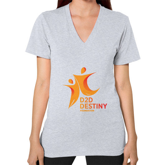 V-Neck (on woman) Heather grey - d2ddestiny