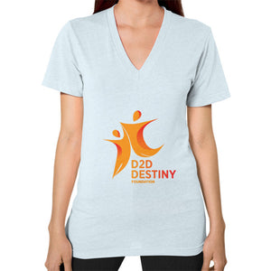 V-Neck (on woman) Light blue - d2ddestiny
