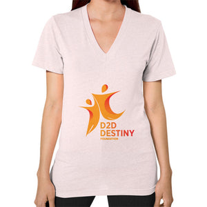V-Neck (on woman) Light pink - d2ddestiny