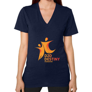 V-Neck (on woman) Navy - d2ddestiny