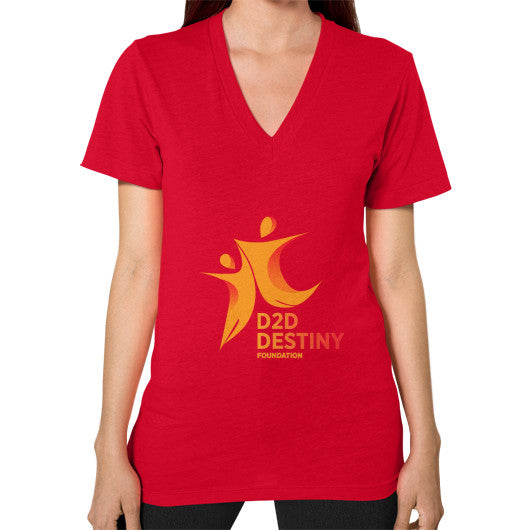 V-Neck (on woman) Red - d2ddestiny