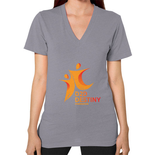 V-Neck (on woman) Slate - d2ddestiny