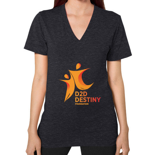 V-Neck (on woman) Tri-Blend Black - d2ddestiny
