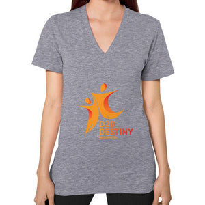 V-Neck (on woman) Tri-Blend Grey - d2ddestiny