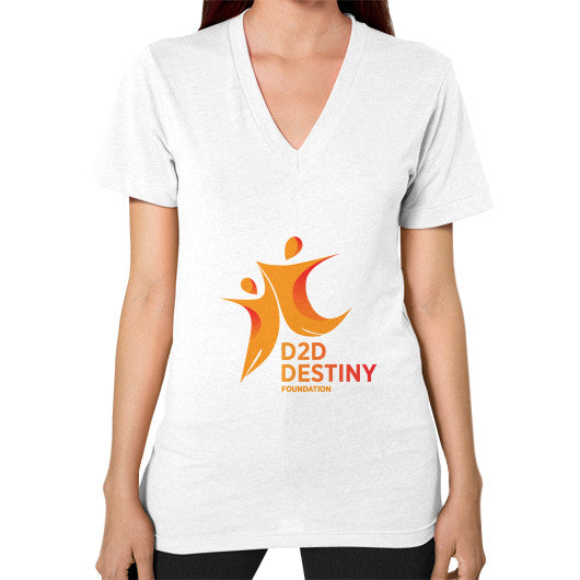 V-Neck (on woman) White - d2ddestiny