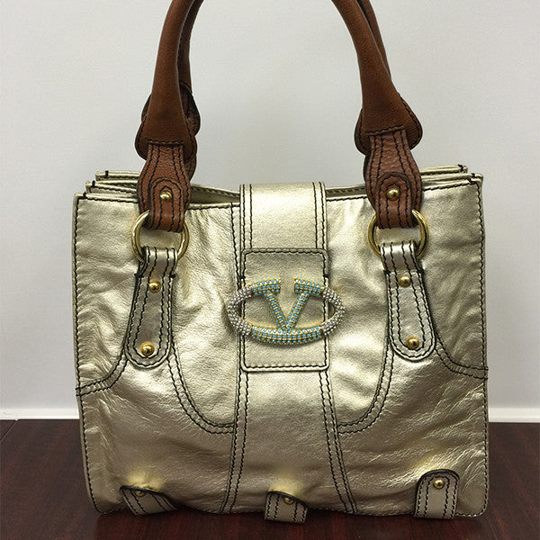 Valentino Gold Metallic Handbag