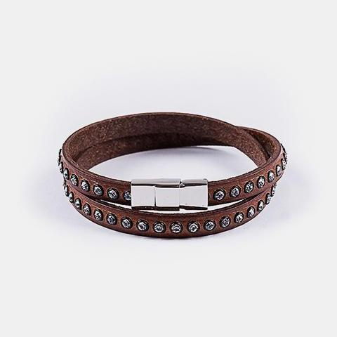 Genuine Leather Swarovski Bracelets