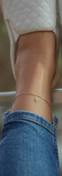 Charm 18.ct Gold Anklet