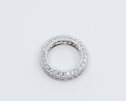 Silver Studded Diamond Ring