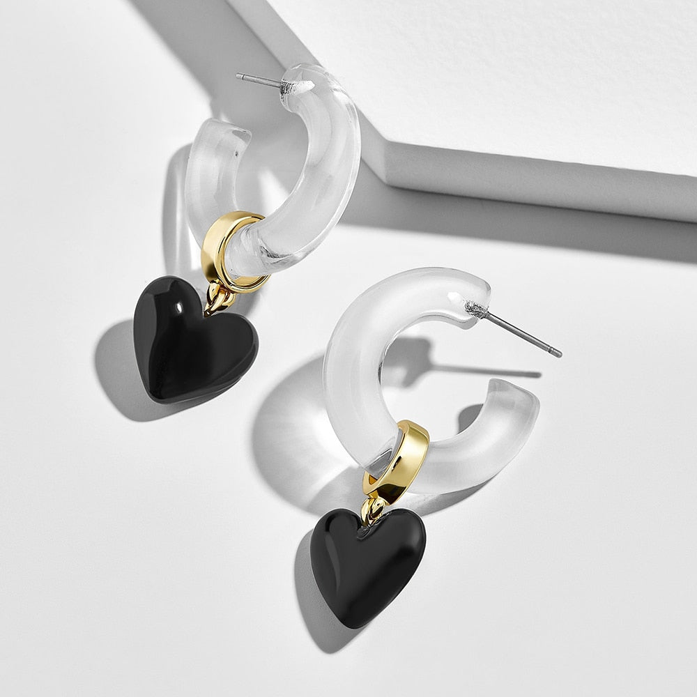 Love Heart Drop Earring