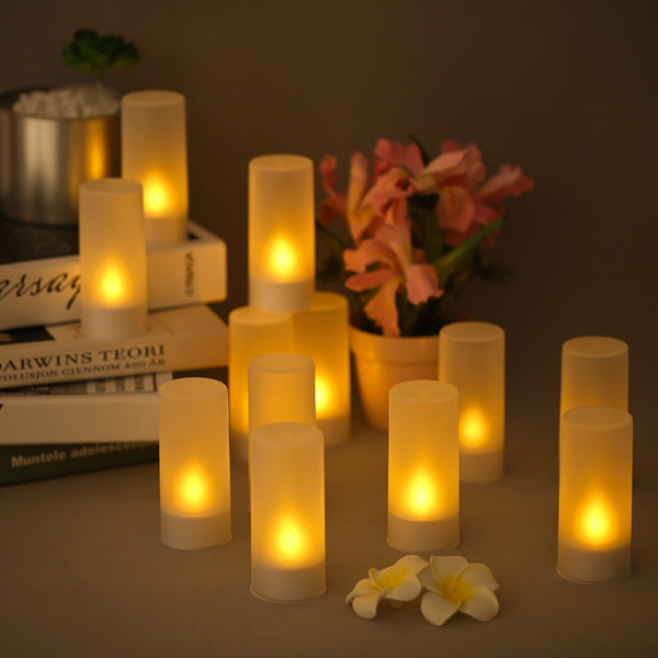 Led Flame-less Candle 12 Pcs set
