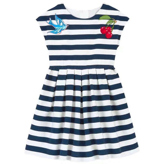 Baby Girl Stripe Printed Dress