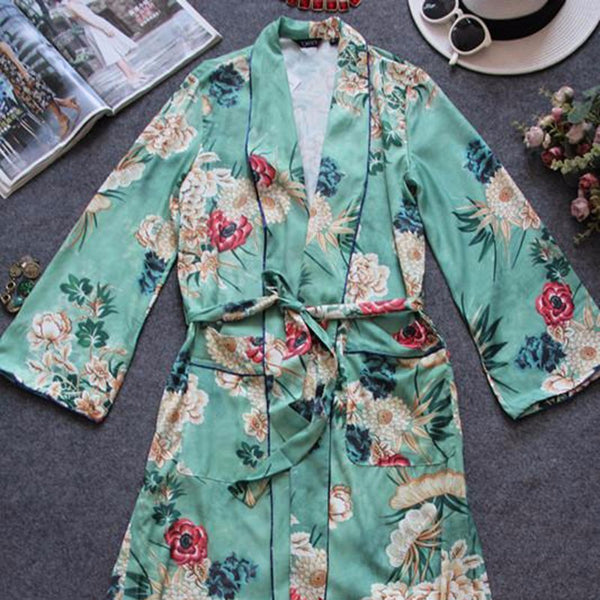 Printed Long Trench Coat