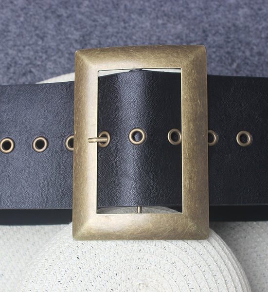 Stylish Leather Buckle Belt