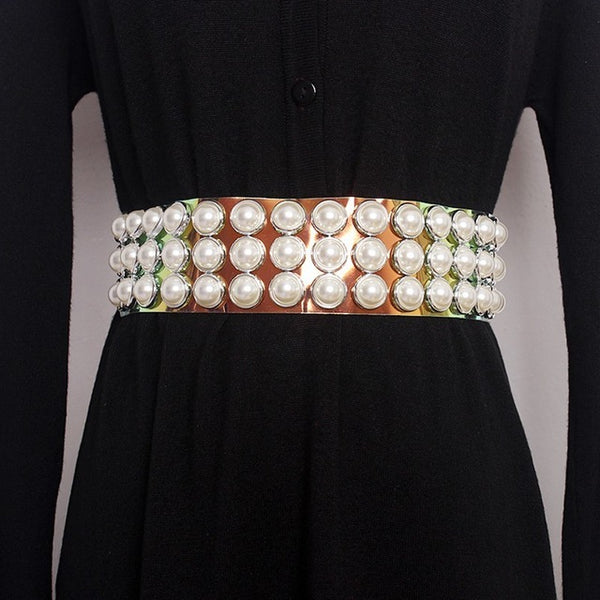 Trendy Pearls Belt