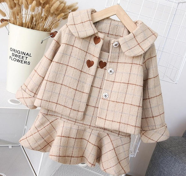 2Pc Woolen Girl Dress