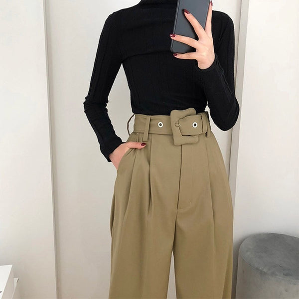 High Waist Trendy Trousers