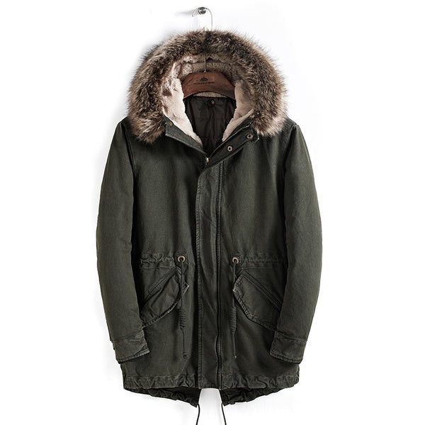 Casual Men Hooded Winter Jacket