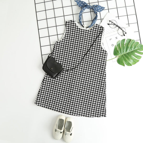 Checkered Sleeve Dress