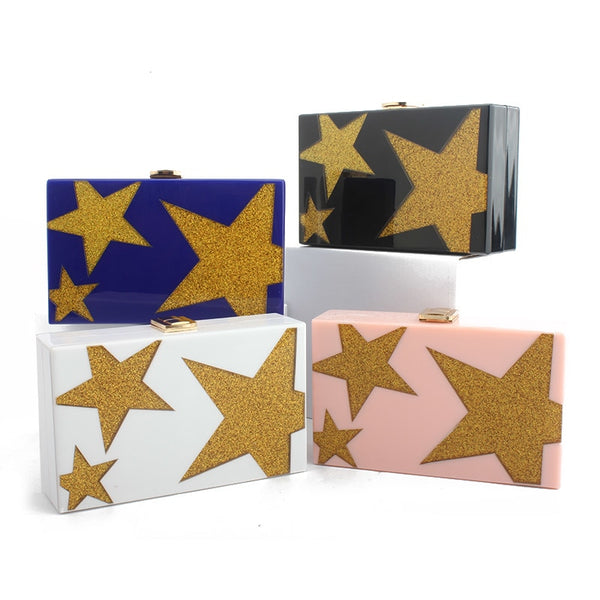 Designer Star Clutch Bag