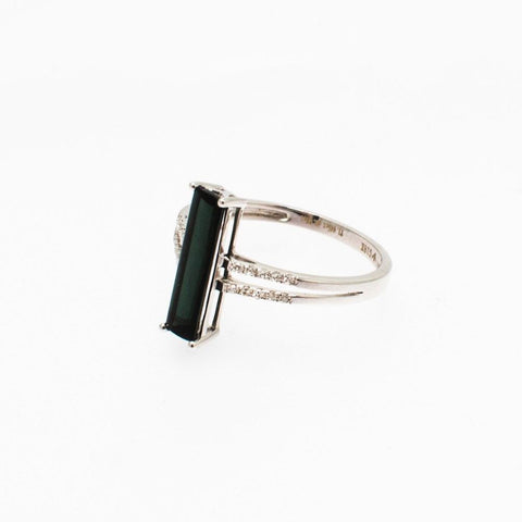 Bar Ring White Gold and Diamonds - Opuline