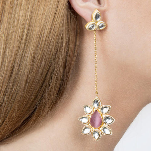 Lolita Gold Plated Handmade Indian Earrings -Opuline